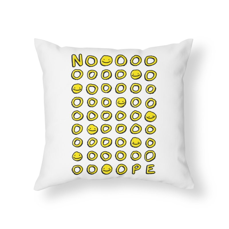 Say It With A Smile Home Throw Pillow by MidnightCoffee