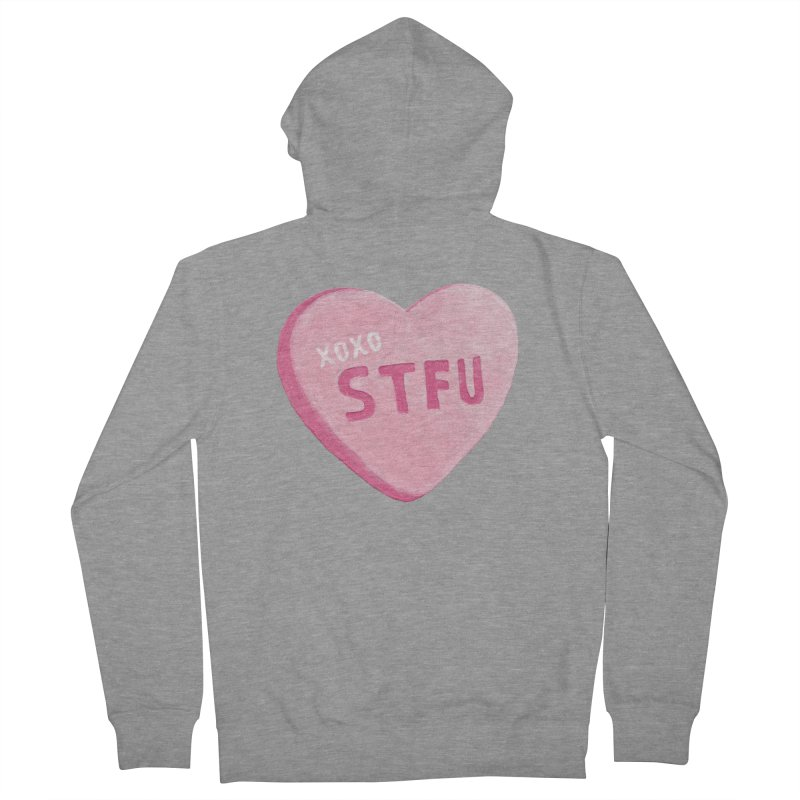 Sweetheart Women's French Terry Zip-Up Hoody by MidnightCoffee