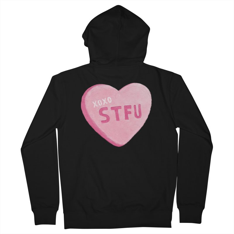 Sweetheart Men's French Terry Zip-Up Hoody by MidnightCoffee