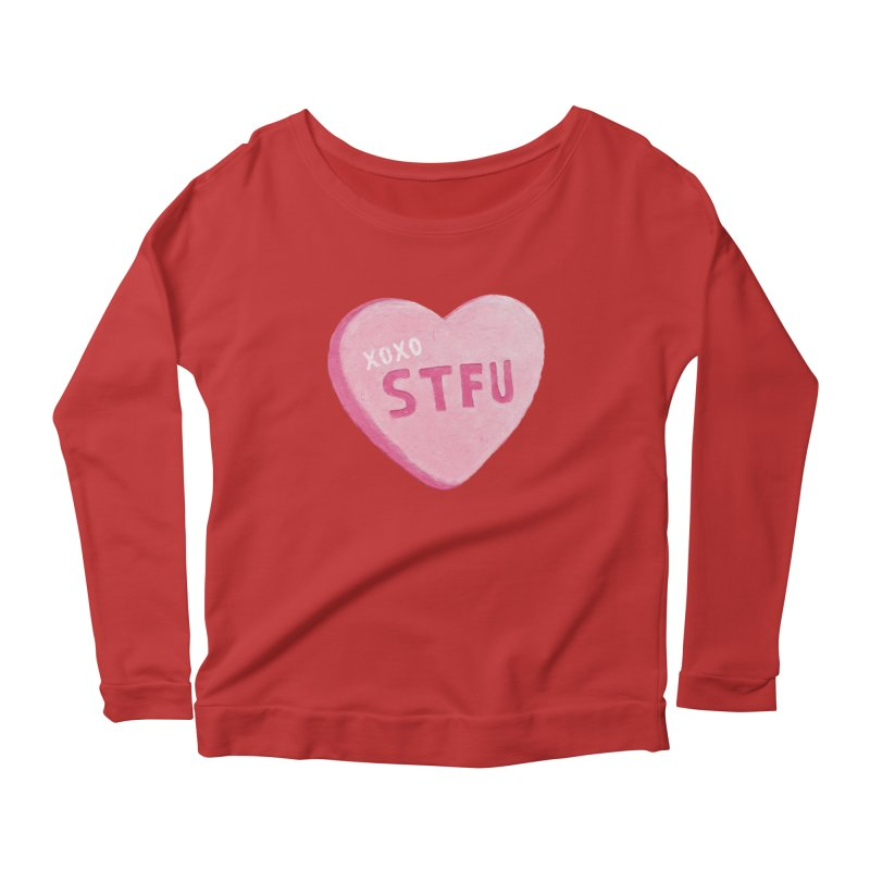 Sweetheart Women's Longsleeve Scoopneck  by MidnightCoffee