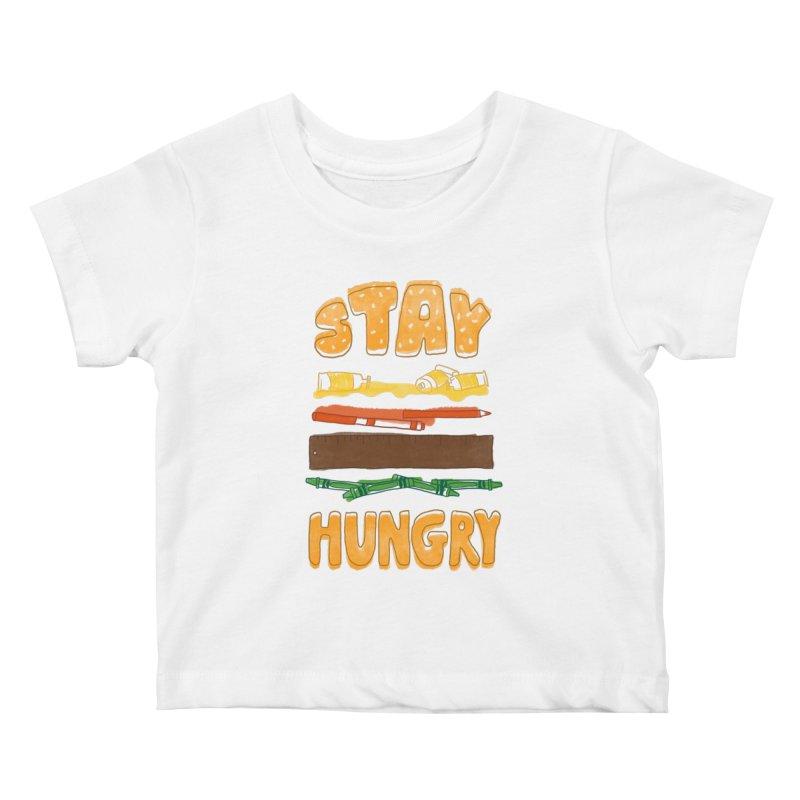 Art Attack Kids Baby T-Shirt by MidnightCoffee
