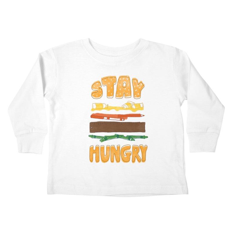 Art Attack Kids Toddler Longsleeve T-Shirt by MidnightCoffee