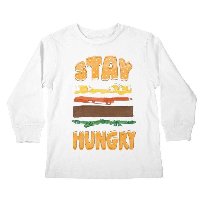 Art Attack Kids Longsleeve T-Shirt by MidnightCoffee
