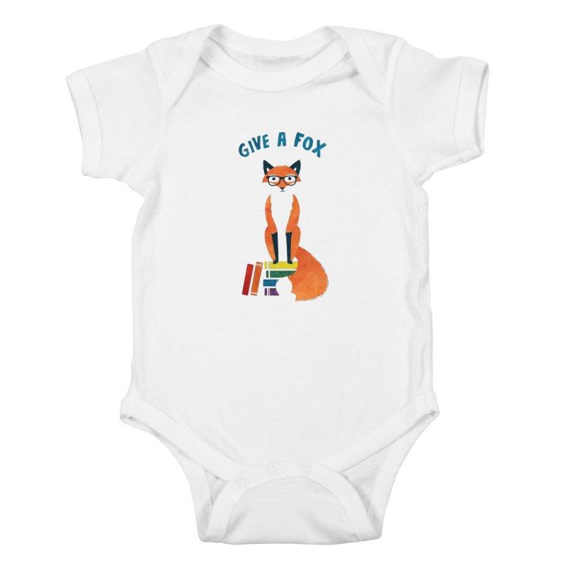 Give a Fox Kids Baby Bodysuit by MidnightCoffee