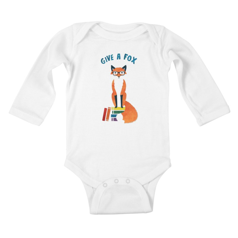 Give a Fox Kids Baby Longsleeve Bodysuit by MidnightCoffee