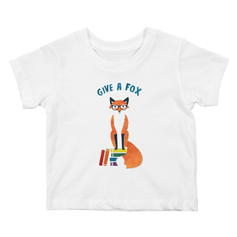 Give a Fox Kids Baby T-Shirt by MidnightCoffee