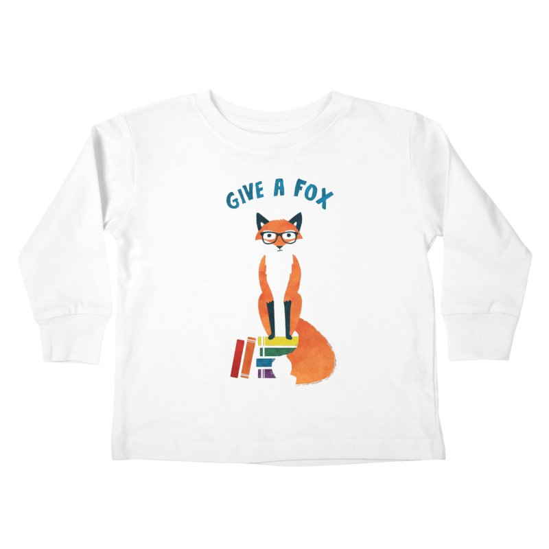Give a Fox Kids Toddler Longsleeve T-Shirt by MidnightCoffee