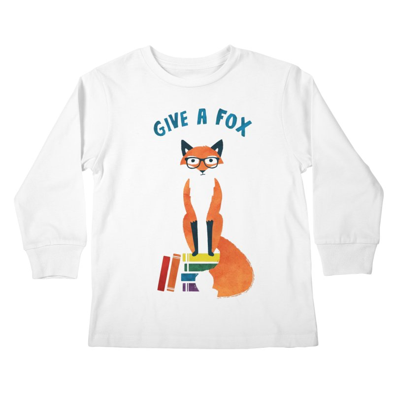 Give a Fox Kids Longsleeve T-Shirt by MidnightCoffee