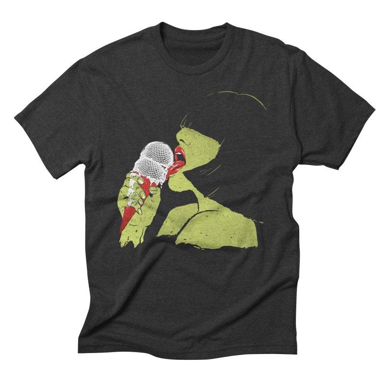 Satisfaction Men's Triblend T-Shirt by MidnightCoffee