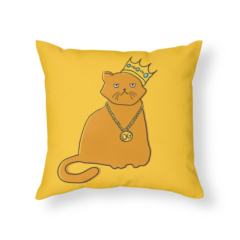 B.I.G. Home Throw Pillow by MidnightCoffee