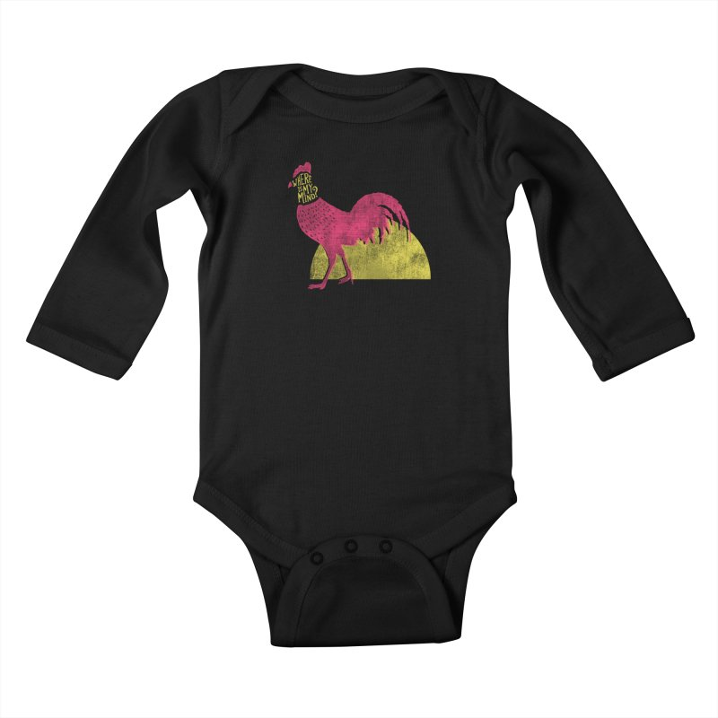 Where Is My Mind Kids Baby Longsleeve Bodysuit by MidnightCoffee