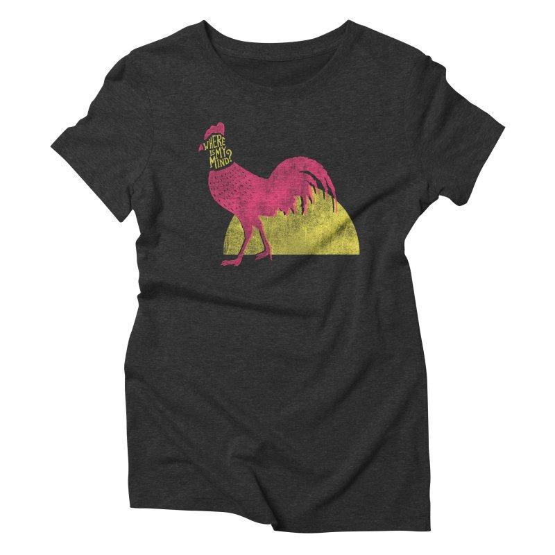 Where Is My Mind Women's Triblend T-shirt by MidnightCoffee