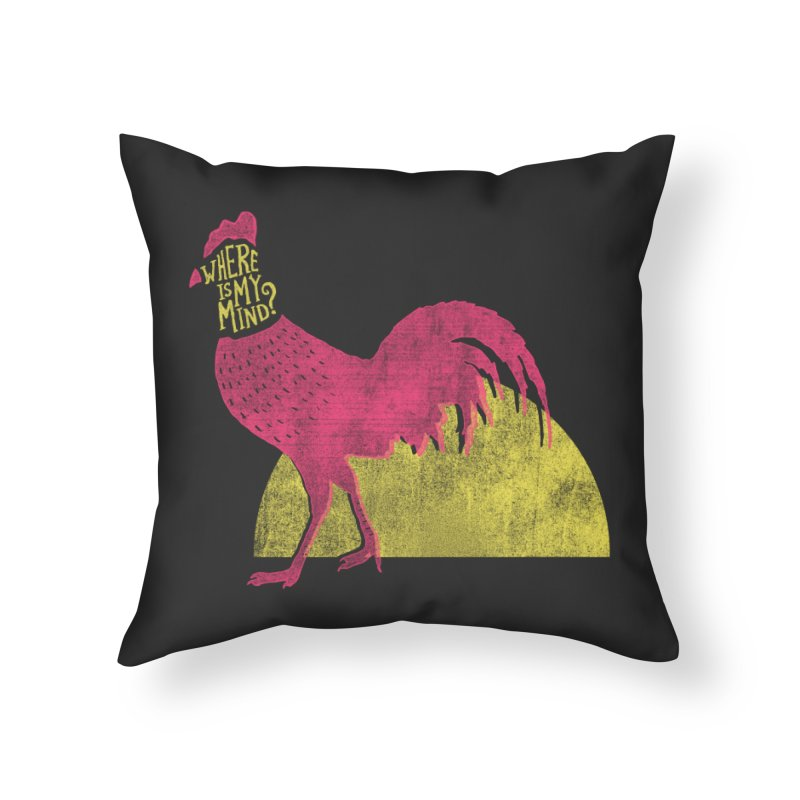 Where Is My Mind Home Throw Pillow by MidnightCoffee