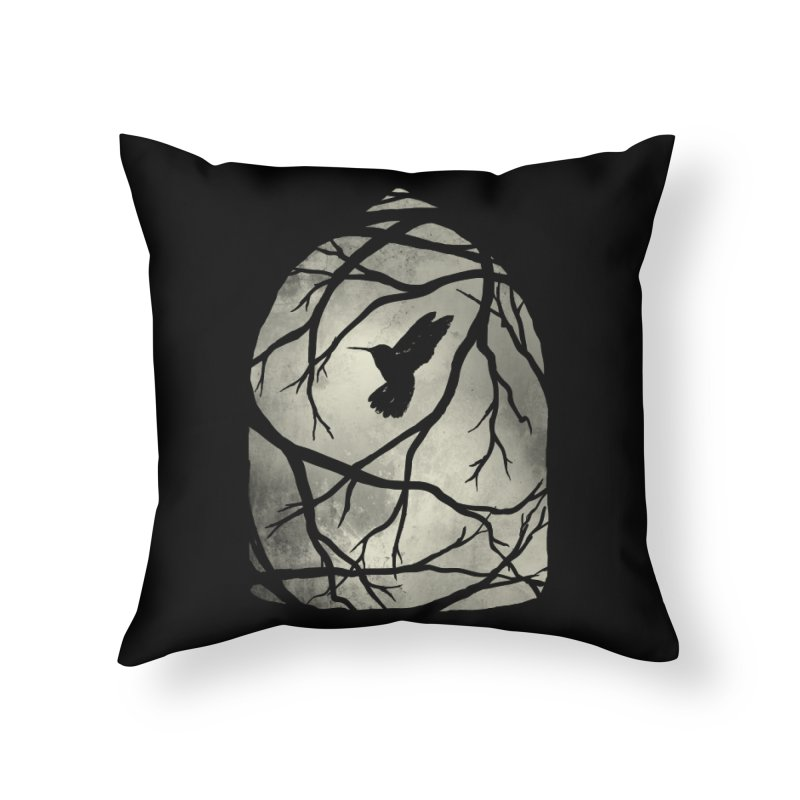 My Home; My Cage Home Throw Pillow by MidnightCoffee