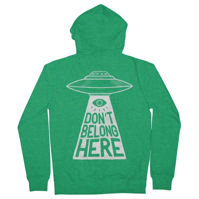 Beam Me Up Men's French Terry Zip-Up Hoody by MidnightCoffee