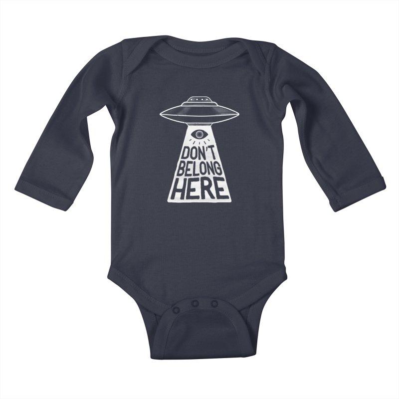 Beam Me Up Kids Baby Longsleeve Bodysuit by MidnightCoffee