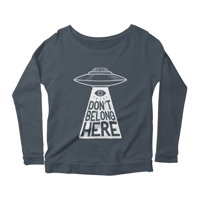 Beam Me Up Women's Longsleeve Scoopneck  by MidnightCoffee