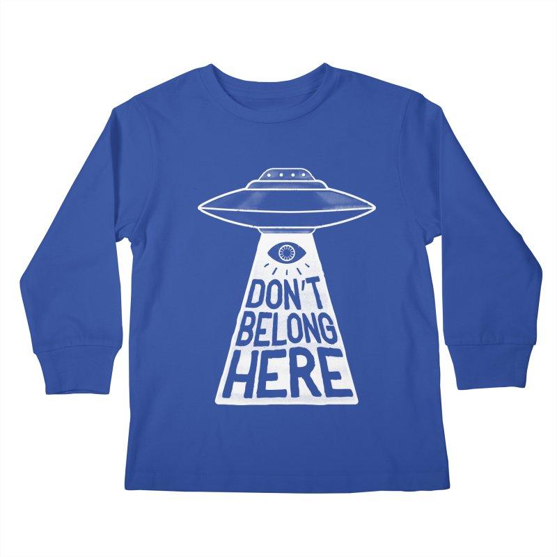 Beam Me Up Kids Longsleeve T-Shirt by MidnightCoffee