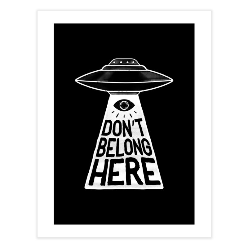 Beam Me Up Home Fine Art Print by MidnightCoffee