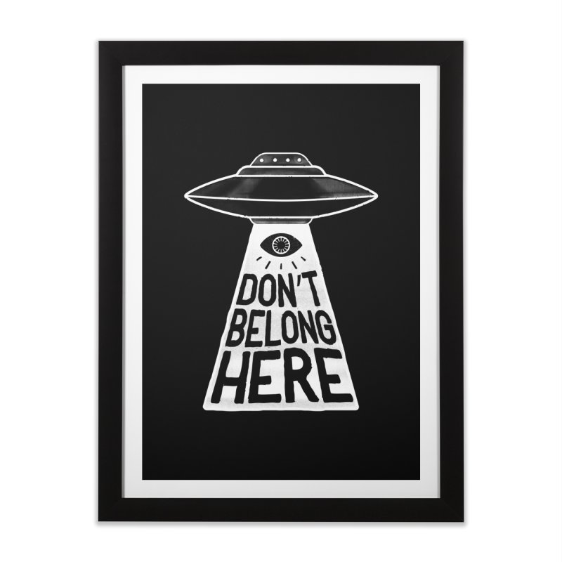 Beam Me Up Home Framed Fine Art Print by MidnightCoffee