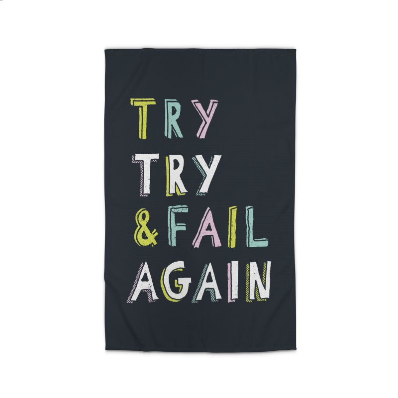 Try & Fail, Try Again Home Rug by MidnightCoffee