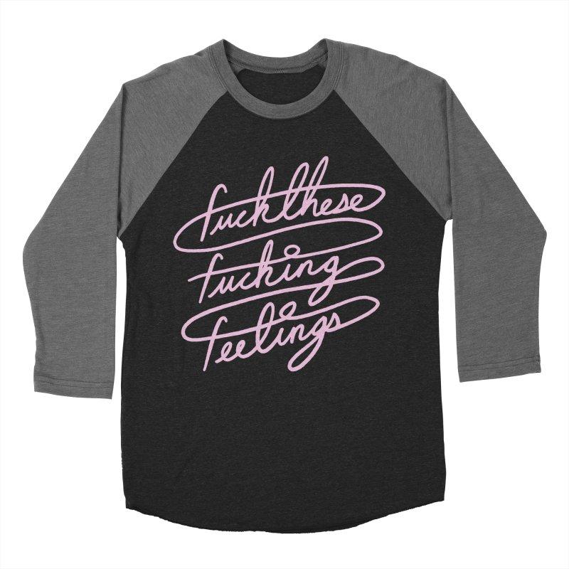 FFFeelings in Women's Baseball Triblend Longsleeve T-Shirt Grey Triblend Sleeves by MidnightCoffee