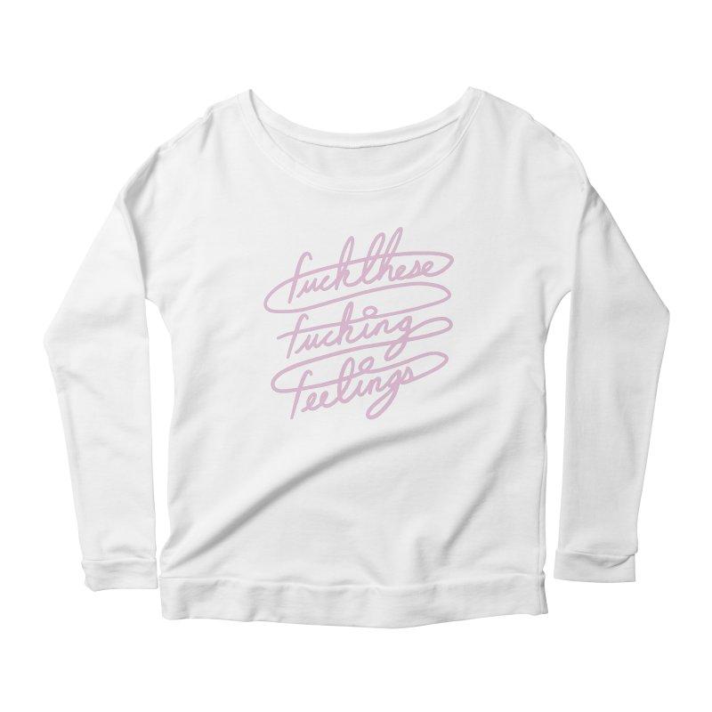 FFFeelings Women's Scoop Neck Longsleeve T-Shirt by MidnightCoffee