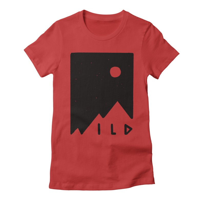 Wild Card Women's Fitted T-Shirt by MidnightCoffee