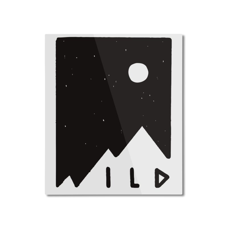 Wild Card Home Mounted Aluminum Print by MidnightCoffee