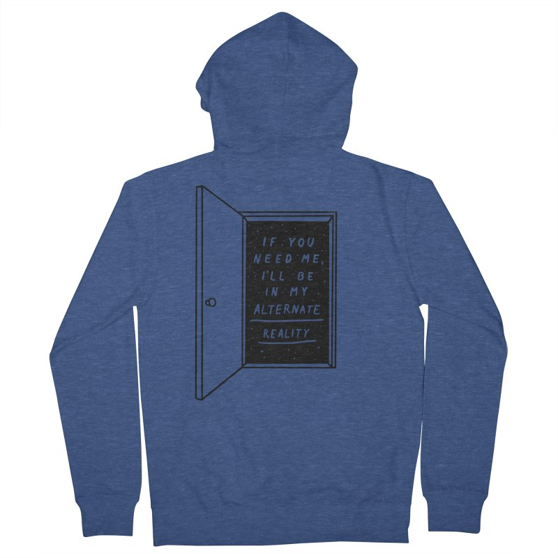 Alternate Reality Women's French Terry Zip-Up Hoody by MidnightCoffee