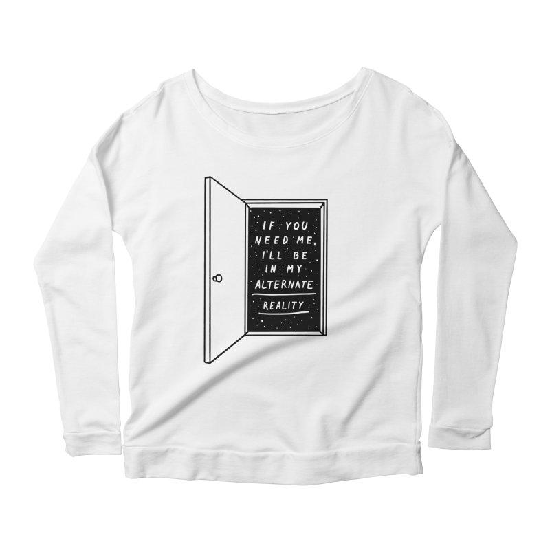 Alternate Reality Women's Scoop Neck Longsleeve T-Shirt by MidnightCoffee