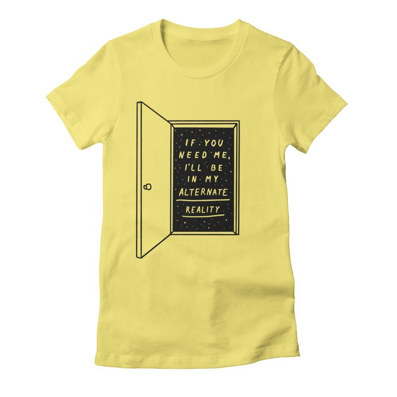 Alternate Reality Women's Fitted T-Shirt by MidnightCoffee