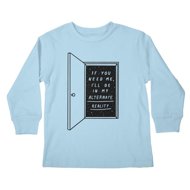 Alternate Reality Kids Longsleeve T-Shirt by MidnightCoffee
