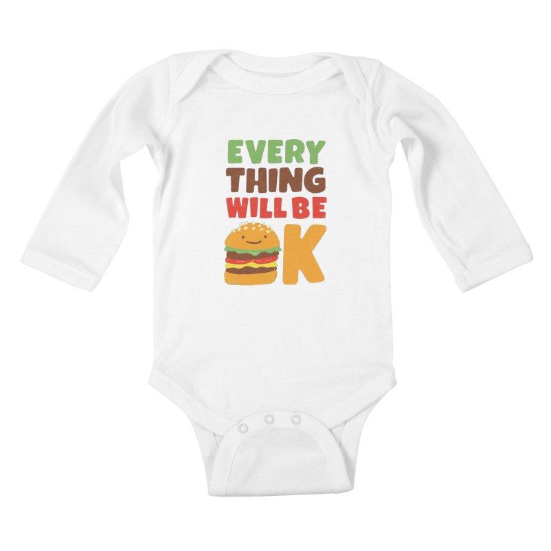 Feed Your Feelings Kids Baby Longsleeve Bodysuit by MidnightCoffee