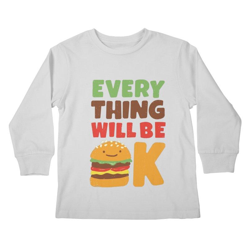 Feed Your Feelings Kids Longsleeve T-Shirt by MidnightCoffee
