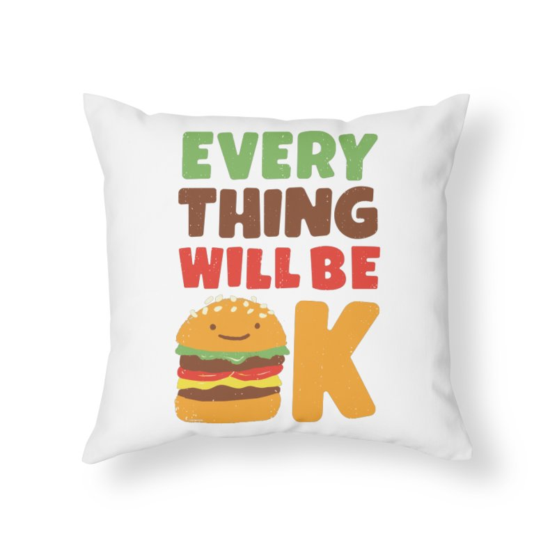 Feed Your Feelings Home Throw Pillow by MidnightCoffee