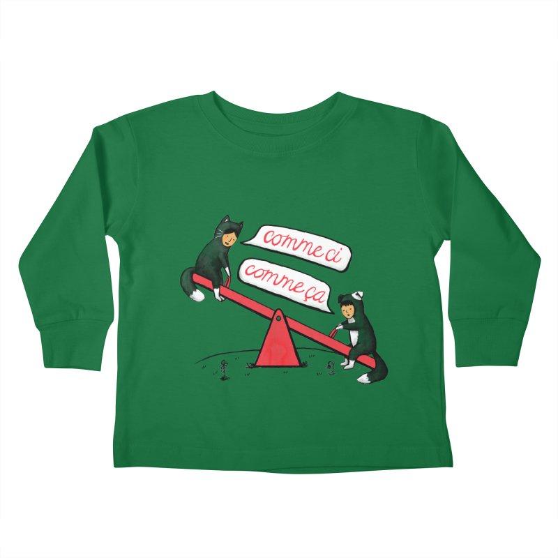 Seesaw Life Kids Toddler Longsleeve T-Shirt by MidnightCoffee