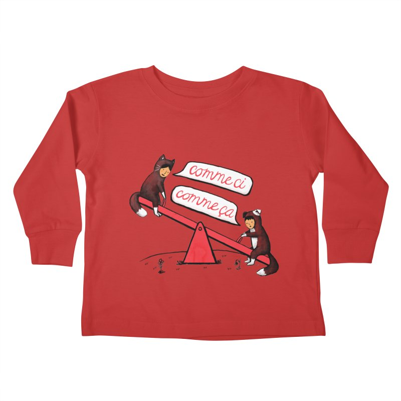 Seesaw Life Kids Toddler Longsleeve T-Shirt by MidnightCoffee