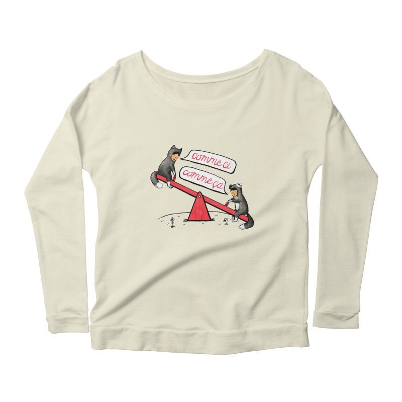 Seesaw Life Women's Scoop Neck Longsleeve T-Shirt by MidnightCoffee