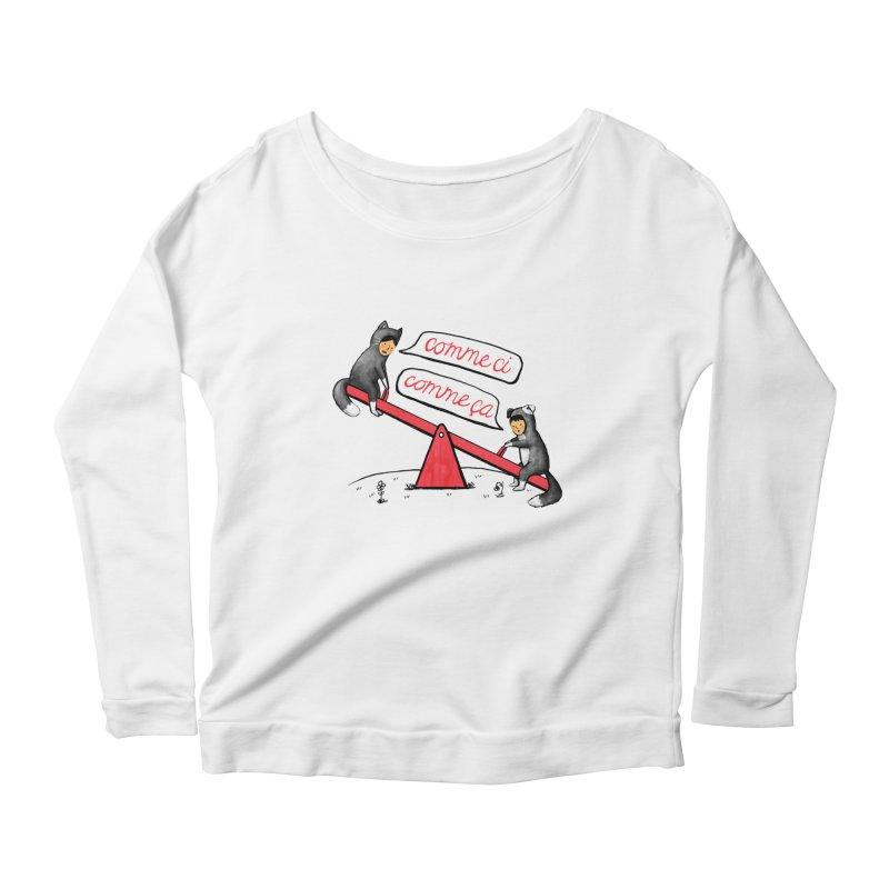 Seesaw Life Women's Scoop Neck Longsleeve T-Shirt by MidnightCoffee