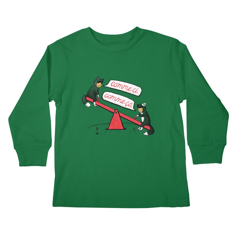 Seesaw Life Kids Longsleeve T-Shirt by MidnightCoffee