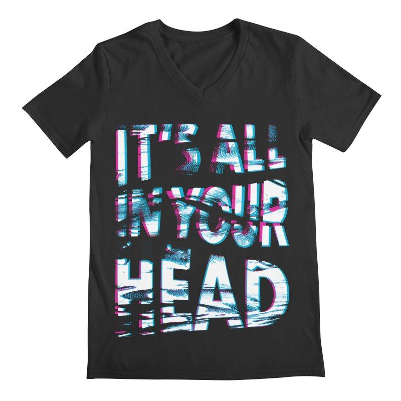 In Your Head Men's Regular V-Neck by MidnightCoffee