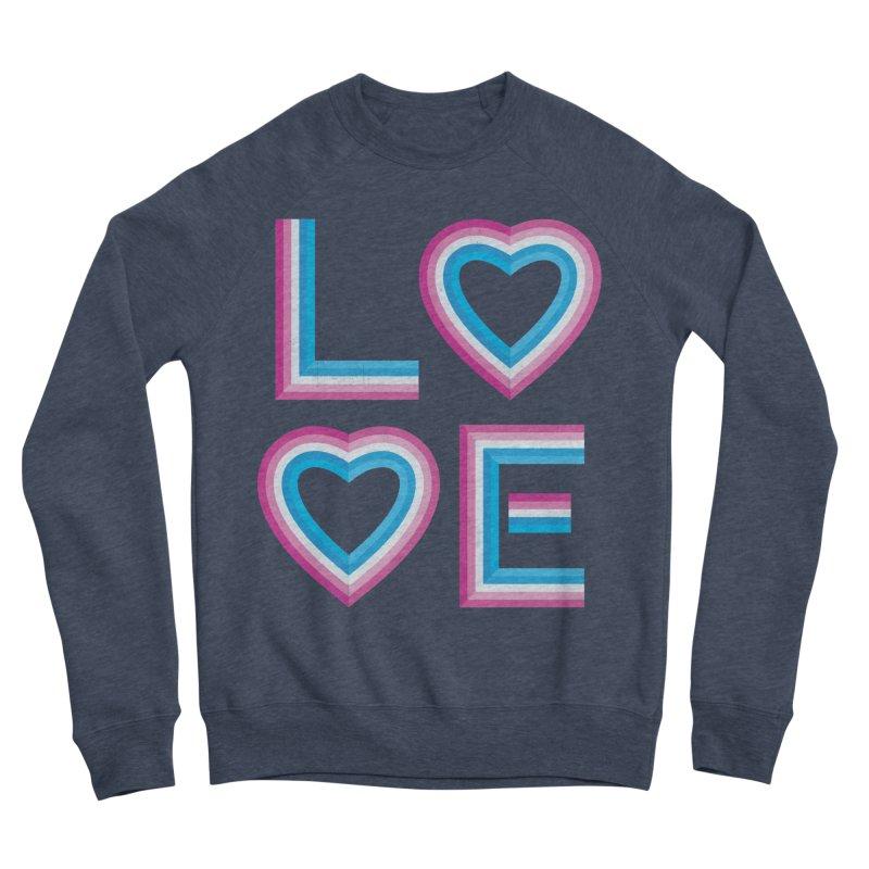 LOVE Men's Sponge Fleece Sweatshirt by MidnightCoffee