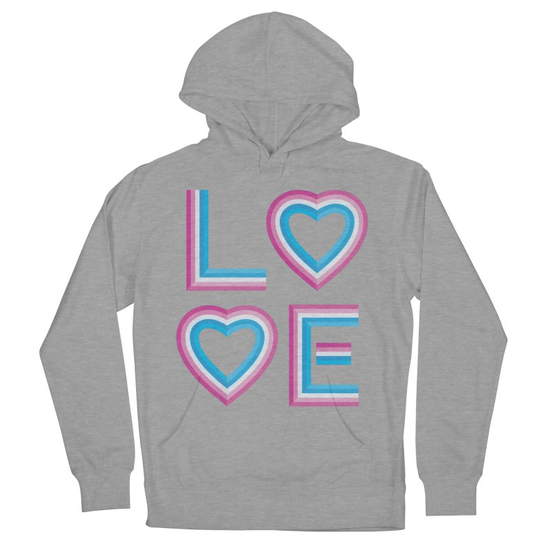 LOVE Women's French Terry Pullover Hoody by MidnightCoffee