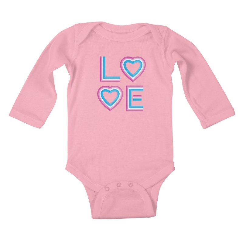 LOVE Kids Baby Longsleeve Bodysuit by MidnightCoffee
