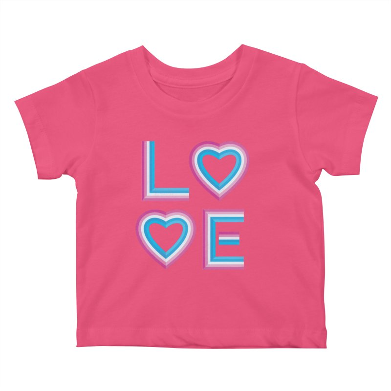 LOVE Kids Baby T-Shirt by MidnightCoffee