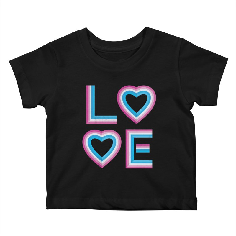 LOVE Kids Baby T-Shirt by MidnightCoffee