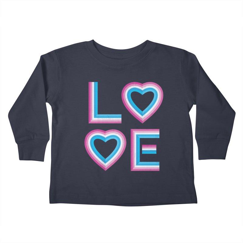 LOVE Kids Toddler Longsleeve T-Shirt by MidnightCoffee