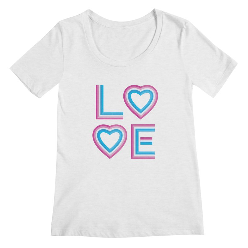 LOVE Women's Regular Scoop Neck by MidnightCoffee