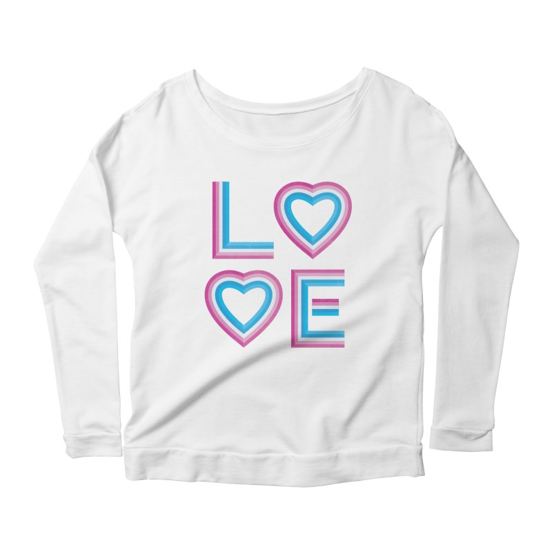 LOVE Women's Scoop Neck Longsleeve T-Shirt by MidnightCoffee
